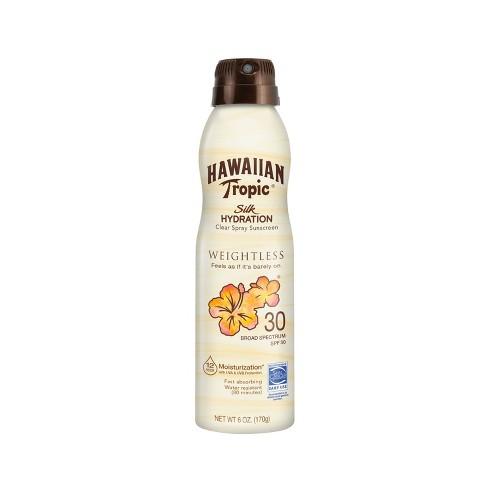 Hawaiian Tropic Silk Hydration Weightless Sunscreen C-Spray - SPF 30 - 6oz - image 1 of 4