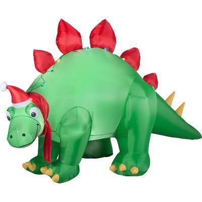 Gemmy Christmas Airblown Inflatable Stegosaurus, 5.5 ft Tall, green