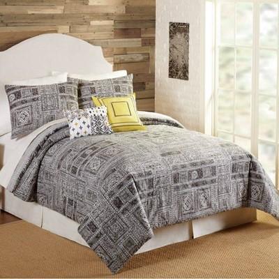 Indigo Bazaar 5pc Tranquility Comforter & Sham Set Gray