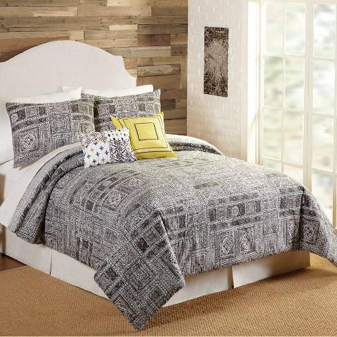 Indigo Bazaar 5pc Tranquility Comforter & Sham Set Gray - image 1 of 4