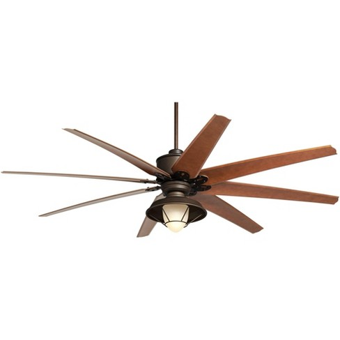 72 Casa Vieja Outdoor Ceiling Fan With Light Led Remote English Bronze Cherry Blades Frosted Glass Damp Rated For Patio Porch Target