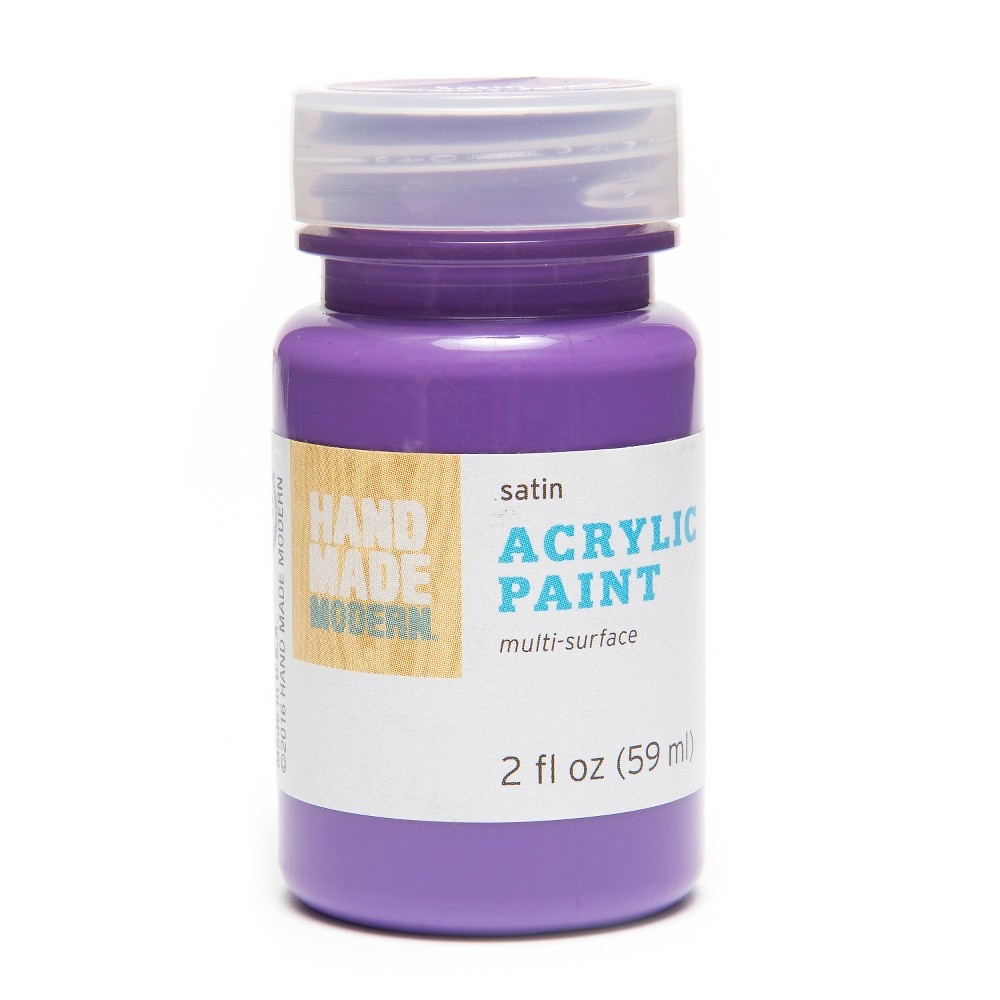 Image of 2oz Satin Acrylic Paint - Candy Apple Hand Made Modern , Eggplant