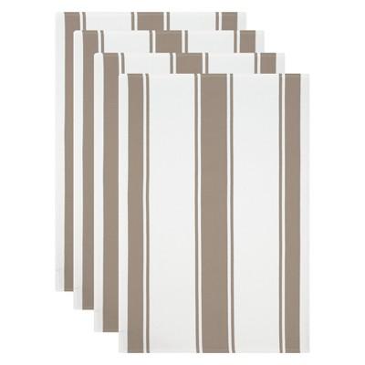 4pk Kitchen Towel White/Beige - Mu Kitchen
