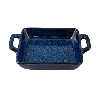 "11"" x 8"" Ceramic Square Baking Dish with Handles Blue - Thirstystone"