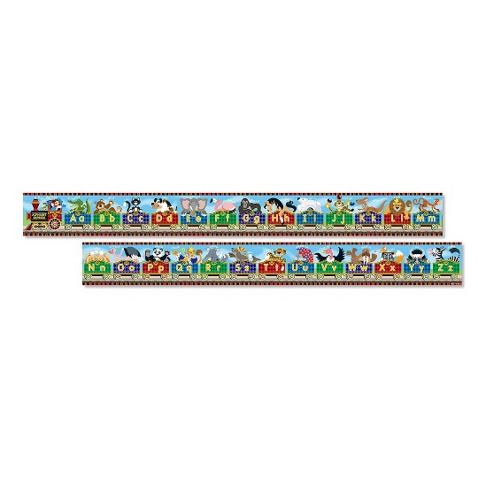 Melissa & Doug Alphabet Express Jumbo Jigsaw Floor Puzzle (27pc, 10 feet long) image number null