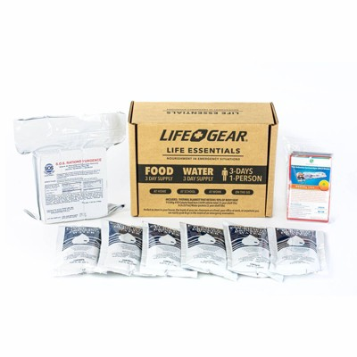 Life+Gear 72hr Food/Water and Thermal Blanket Kit