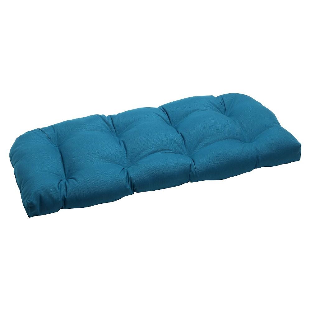 Sunbrella Spectrum Outdoor Wicker Loveseat Cushion - Blue