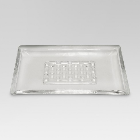 Frosted Soap Dish Clear - Threshold™ - image 1 of 1