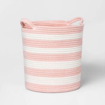 Medium Coiled Stripe Rope Rose Pink - Pillowfort™