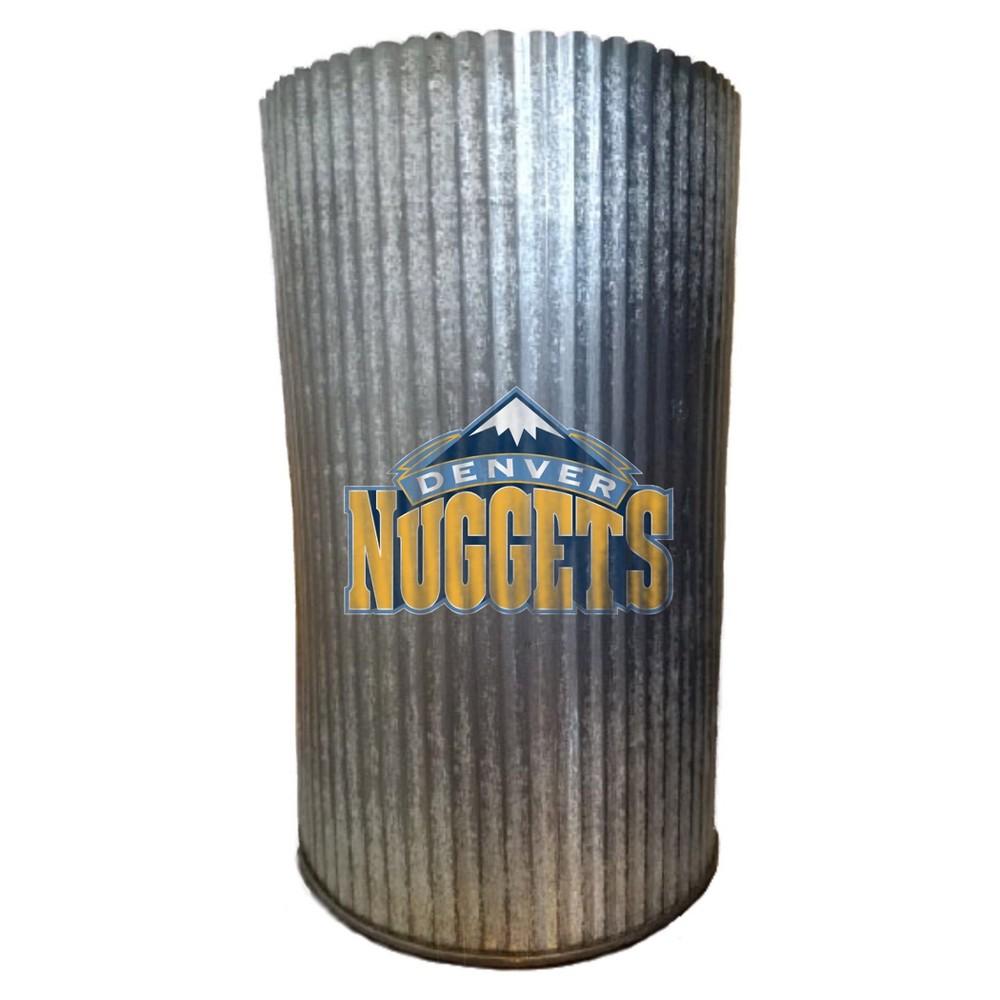 NBA Denver Nuggets Metal Cylinder Vase