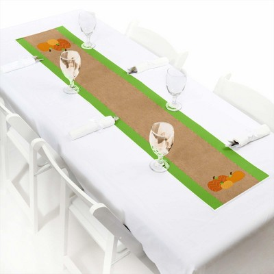Big Dot of Happiness Pumpkin Patch - Petite Fall, Halloween or Thanksgiving Party Paper Table Runner - 12 x 60 inches