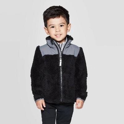 Toddler Boys' Fleece Jacket - Cat & Jack™ Black 12M