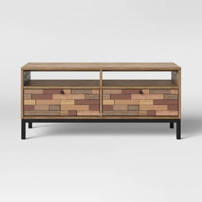 Frederick Pieced Wood Coffee Table with Metal Legs Brown - Project 62™