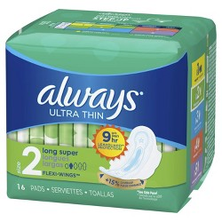 Always Ultra Thin Long Super Pads - Size 2