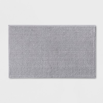 34 x20  Heathered Bath Rug Gray - Made By Design™