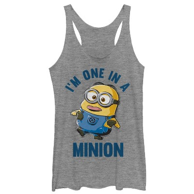 Women's Despicable Me I'm One in Minion Racerback Tank Top