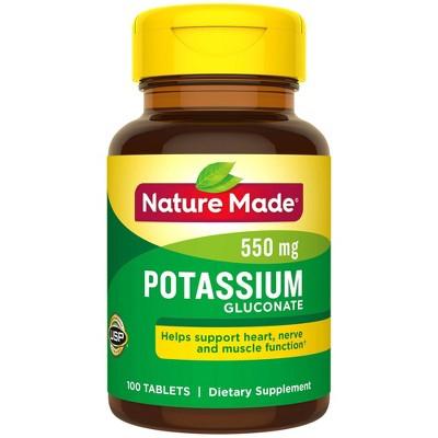 Vitamins & Supplements: Nature Made Potassium Gluconate
