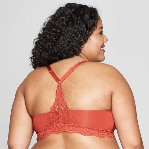 f1707a6156 Women s Plus Size Racerback Bralette - Auden™ Orange Berry 2X   Target
