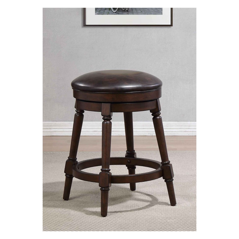 25 Hayden Counter Height Swivel Stool Walnut Brown - Foremost