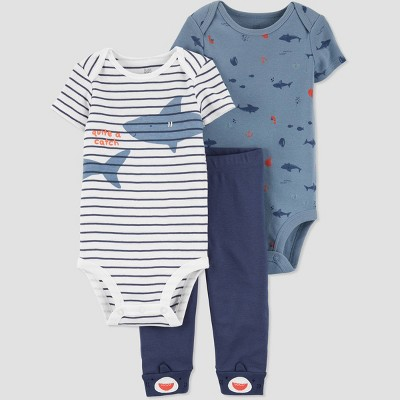 Baby Boys' Shark Top & Bottom Set - Just One You® made by carter's Blue 3M