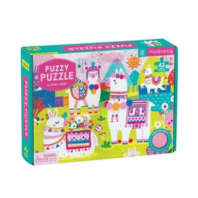 42pc Llama Land Fuzzy Jigsaw Puzzle