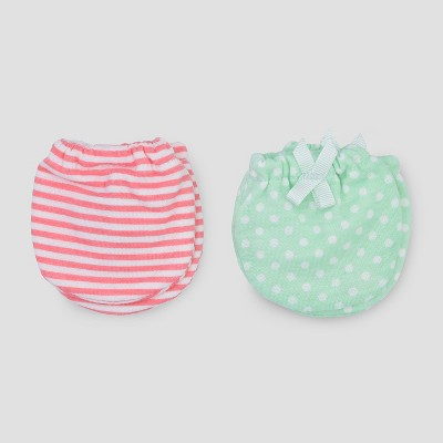 Baby Girls' 2pk Mittens - Just One You® made by carter's Pink/Mint Newborn