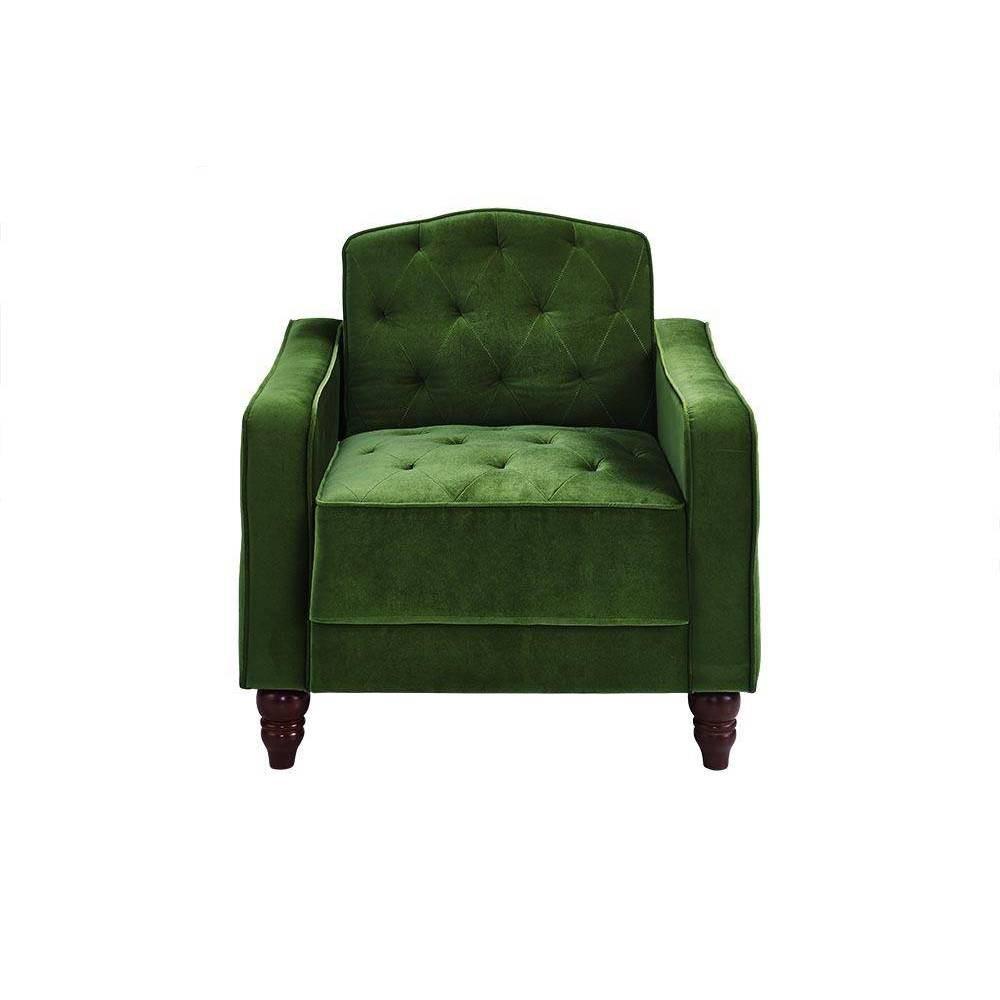 Vintage Tufted Armchair Green - Novogratz