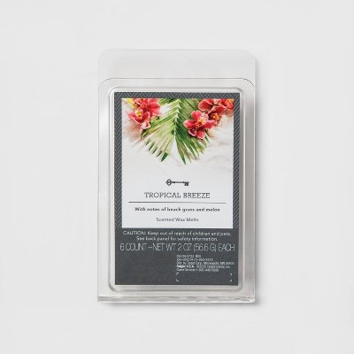 6ct Tropical Breeze Scented Wax Melts - Threshold™