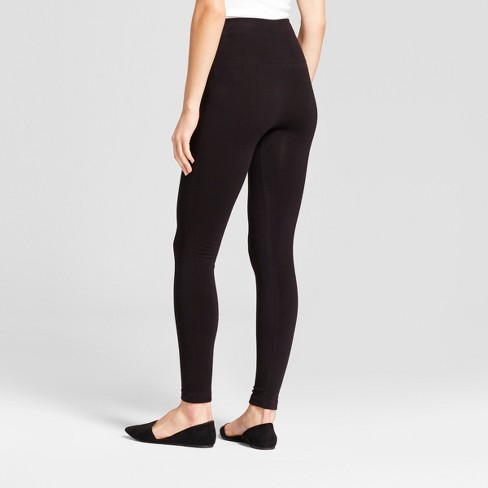 eddd446098596c Women's Seamless Fleece Lined Leggings - A New Day™ Black : Target