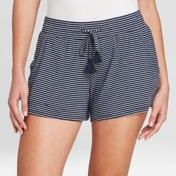 Women's Striped Beautifully Soft Pajama Shorts - Stars Above™ Navy