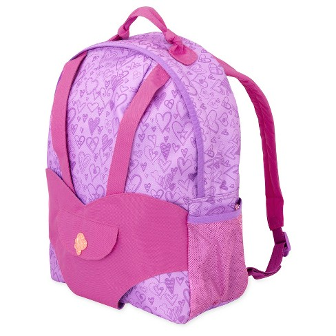 Our Generation Hop On Doll Carrier Backpack - Purple Hearts - image 1 of 4