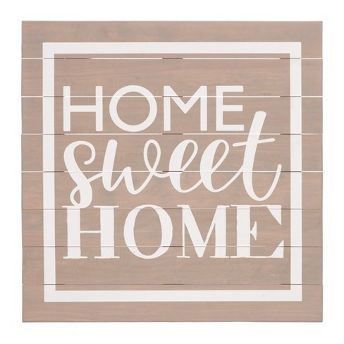 28 Home Sweet Home Wood Plank Wall Art Gray Patton Wall Decor