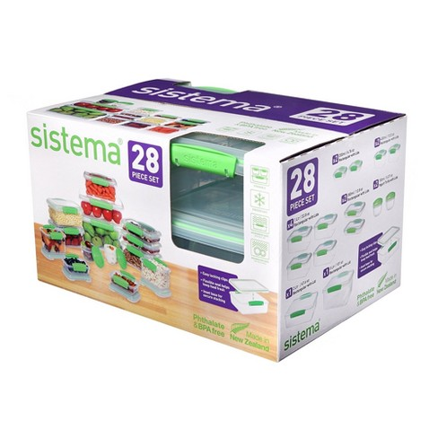 Sistema 28pc Food Storage Container Set Green - image 1 of 5