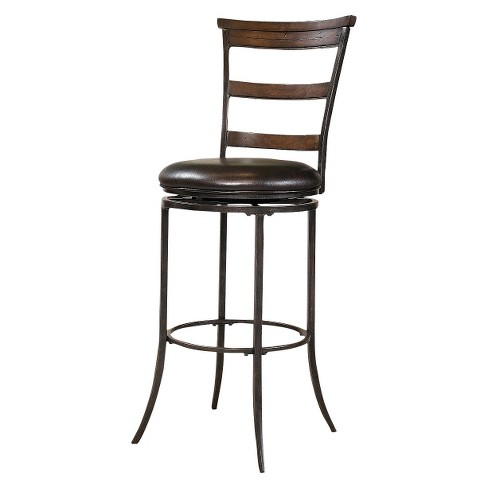 "Cameron Swivel Ladderback 26"" Counter Stool Metal/Chestnut Brown - Hillsdale Furniture - image 1 of 1"