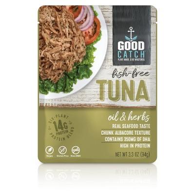 Good Catch Olive Oil and Herbs Fish-Free Tuna - 3.3oz