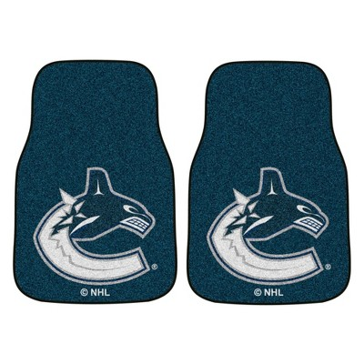 NHL Vancouver Canucks Carpet Car Mat Set - 2pc