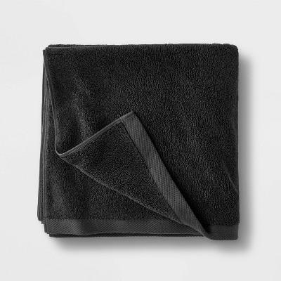 Organic Bath Towel Black - Casaluna™