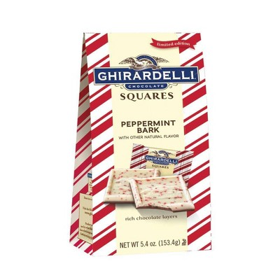 Ghirardelli Holiday Peppermint Bark Chocolate Squares - 5.4oz
