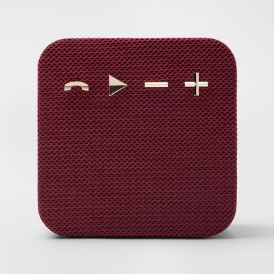 heyday™ Square Portable Bluetooth Speaker - Maroon/Gold