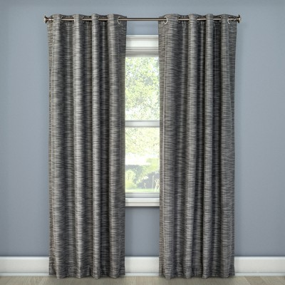 Tara Stripe Light Blocking Curtain Panel Gray (50 x108 )- Eclipse™