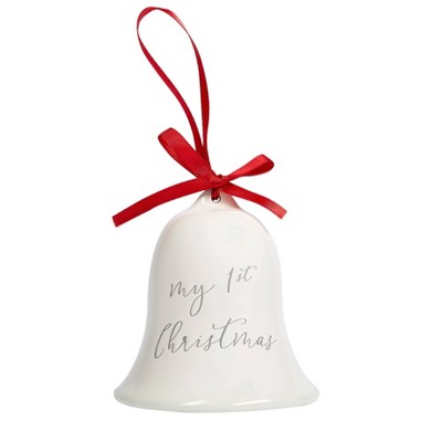 Pearhead Baby's First Christmas Bell Ornament