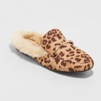 Women's Rebe Faux Fur Mules - A New Day™
