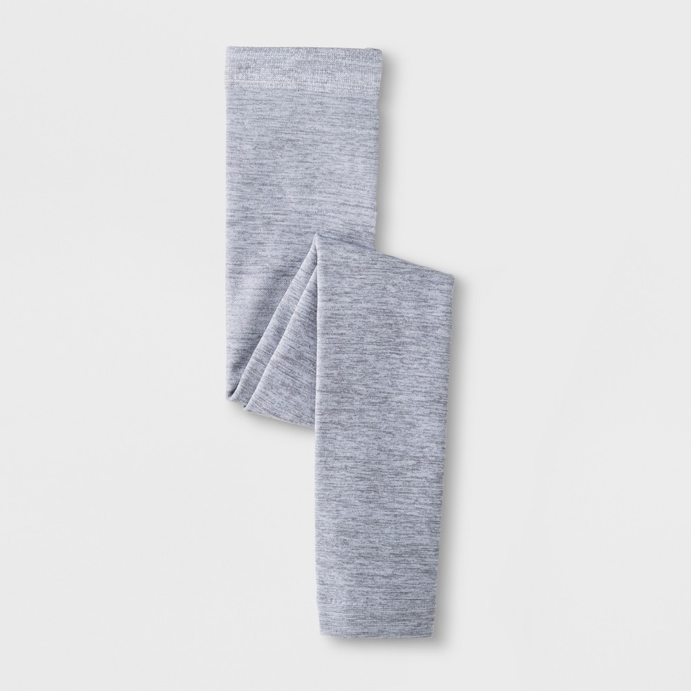 Girls' Marled Fleece Lined Footless Tights - Cat & Jack Gray S