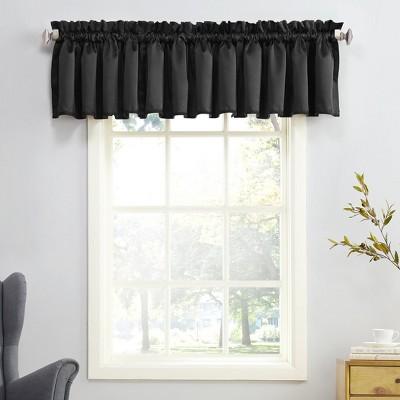 Seymour Energy Efficient Rod Pocket Curtain Valance Black 54 x18 - Sun Zero