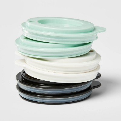 6pk Plastic Kids' Basic Tumblers with Lids - Pillowfort™