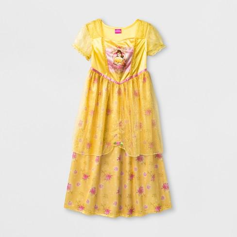 Girls' Disney Princess Belle Nightgown - Yellow 6 - image 1 of 1