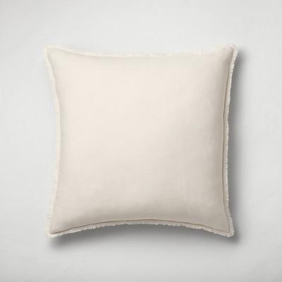 Euro Heavyweight Linen Blend Throw Pillow Natural - Casaluna™