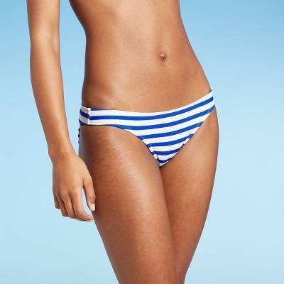 Juniors' Hipster Bikini Bottom - Xhilaration™ Blue Stripe