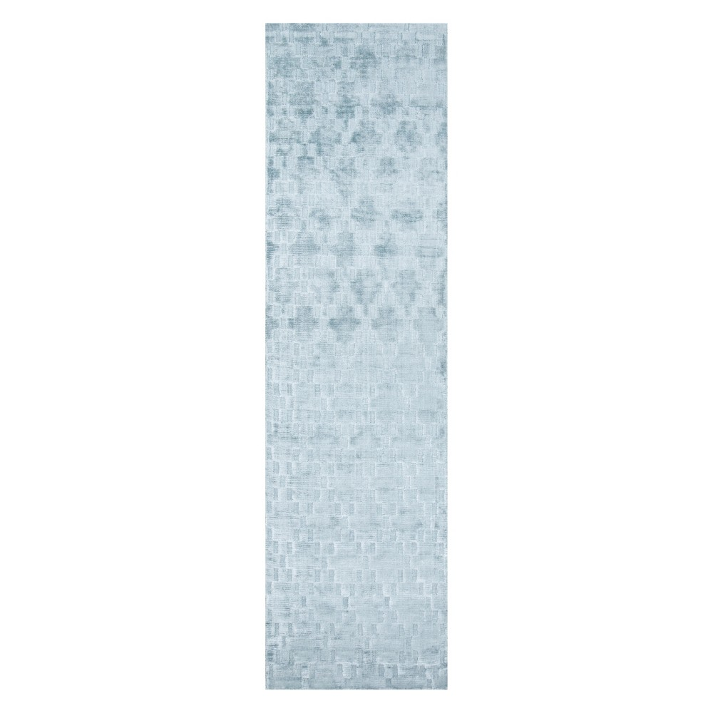 2'3X8' Geometric Loomed Runner Blue - Momeni