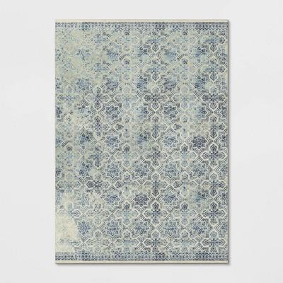 10'X14' Geometric Tufted Area Rug Blue - Threshold™